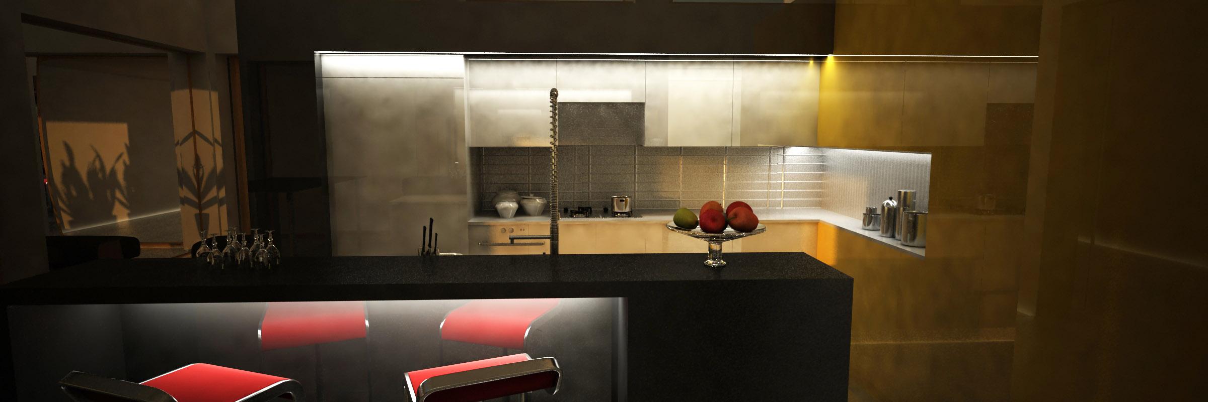 cocina barra diseño