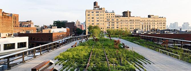 Paisajismo moderno en New York High Line Park