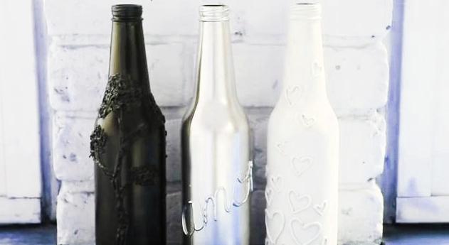 Botellas vidrio silicona