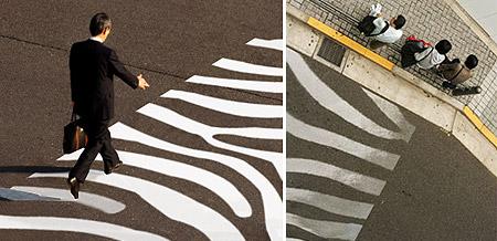 Diseño paso de peatón Paisajismo