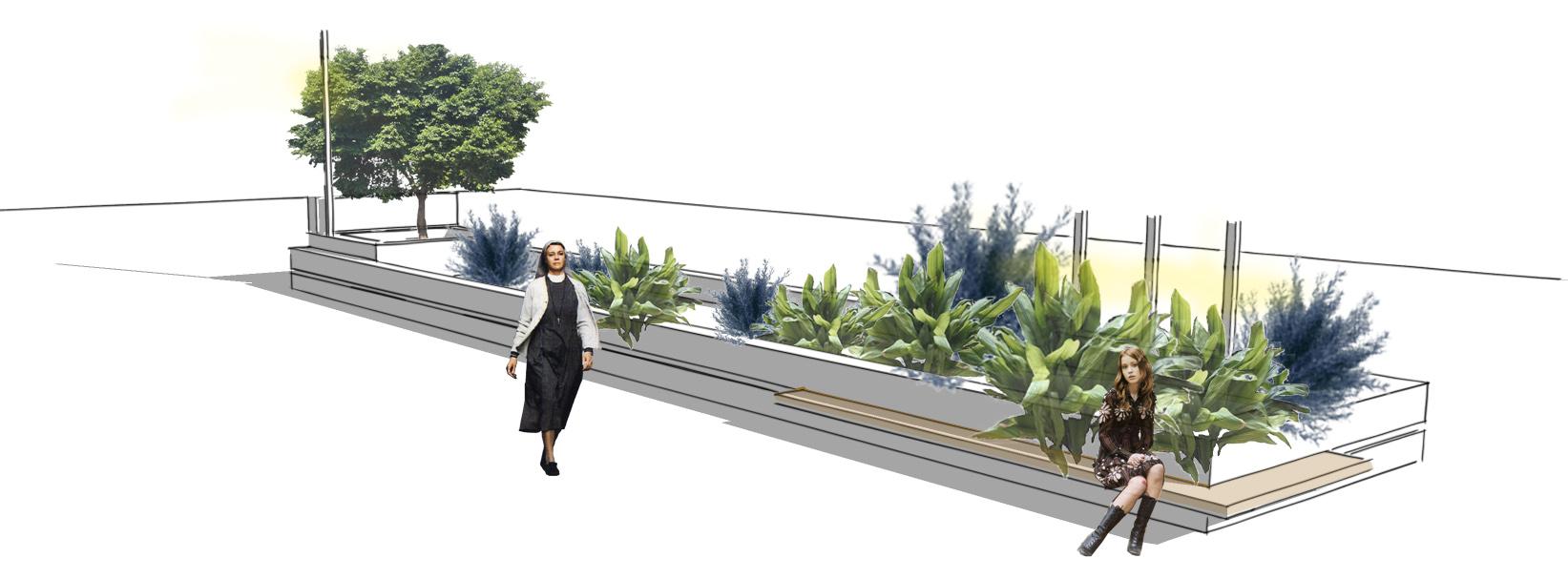 Mobiliario urbano diseño banco