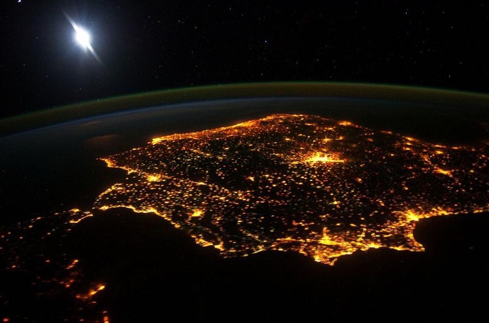 Ciudades Nocturnas desde el Aire