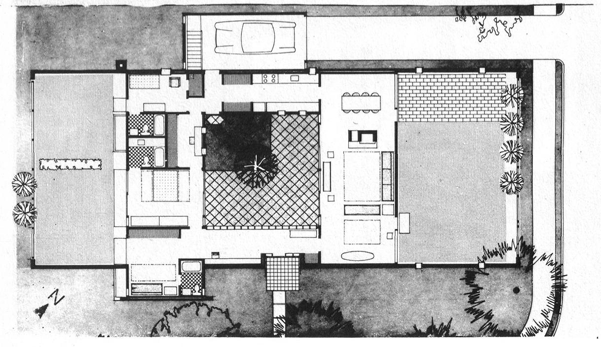 Casa Sert tipología Patio Mediterraneo