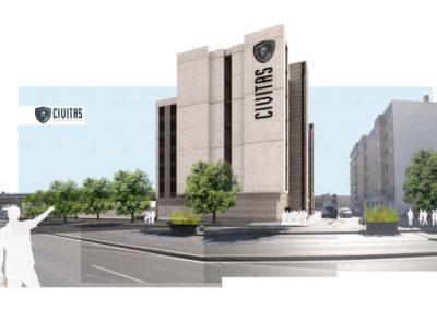 Arquitectura Contemporanea Residencia civitas Almería Render 3D