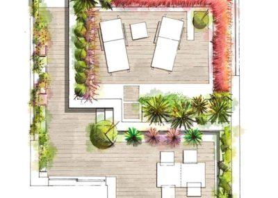 Dibujo a Mano Diseño de jardines