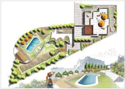 Dibujo a Mano Diseño de viviendas