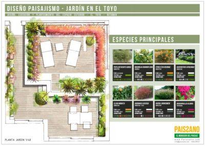 Diseño Gráficos y Láminas de Arquitectura y paisajismo Jardinería