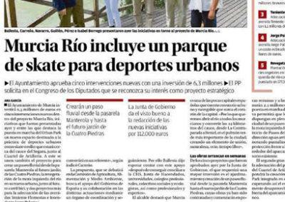 Estudio de arquitectura y paisajismo Almería Presentación de Murcia rio