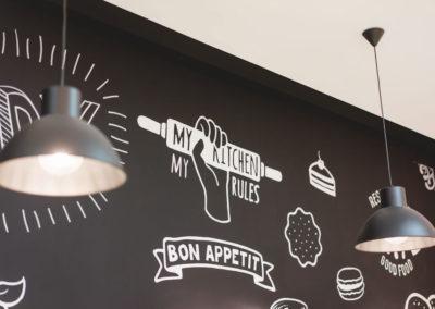 Interiorismo Nórdico Cafetería Civitas Almería Mural