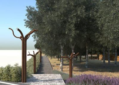 Render 3D Almería jardines