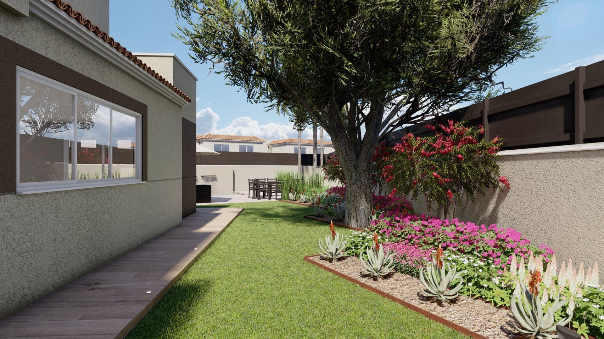 Jardín de diseño en Murcia