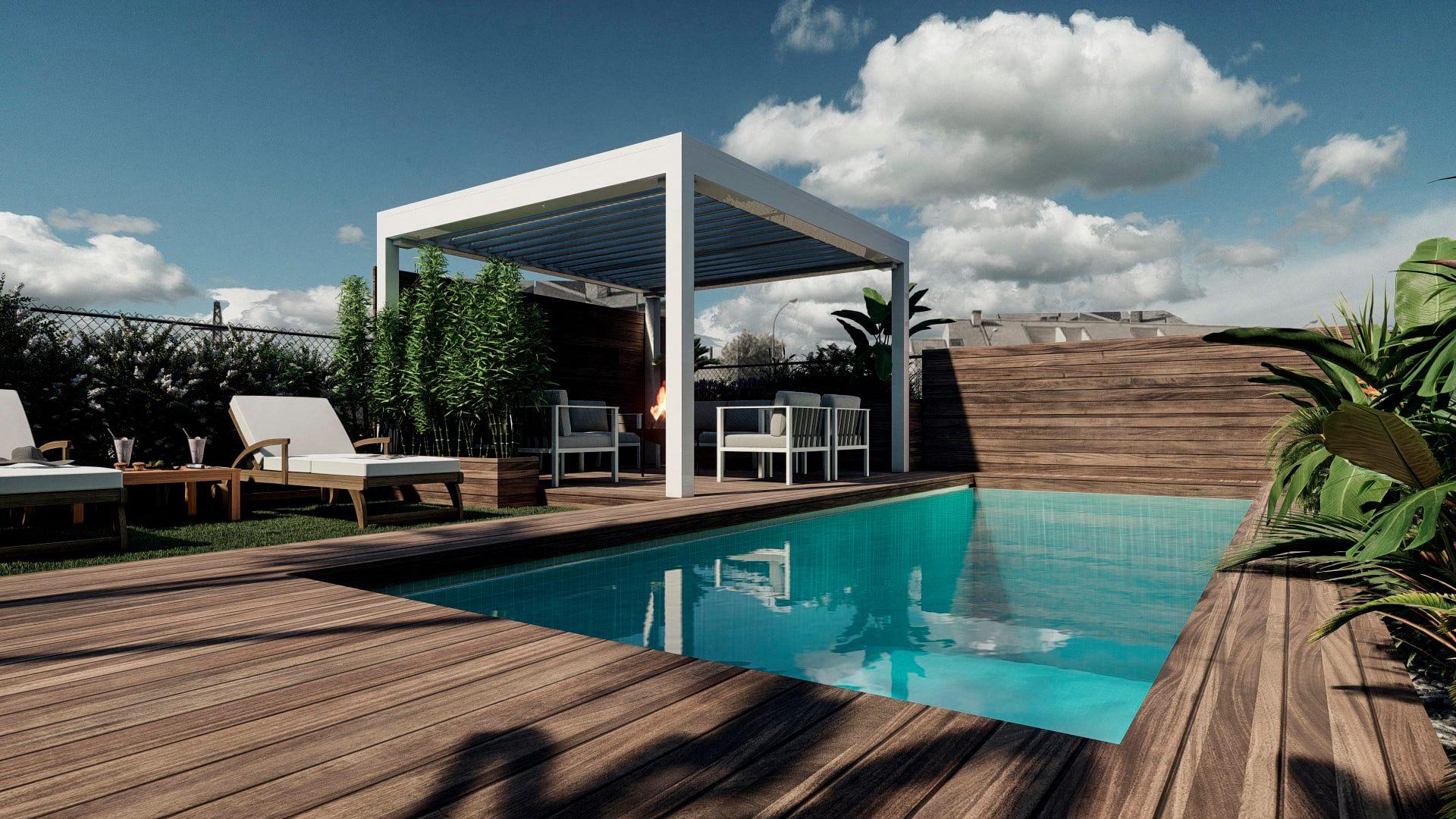 Terraza de diseño en Madrid